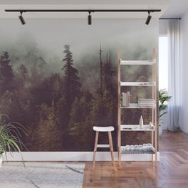 Mountain Morning Mist - Nature Photography Wall Mural