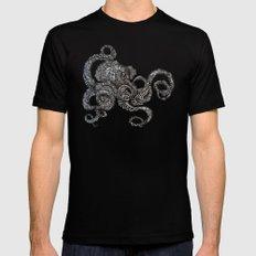 Barnacle Octopus in Black MEDIUM Mens Fitted Tee Black