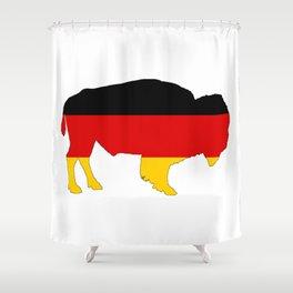 German Flag - Bison Shower Curtain