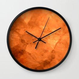 Rock Salt Wall Clock