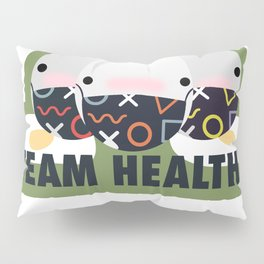 Team healthy with masks Pillow Sham