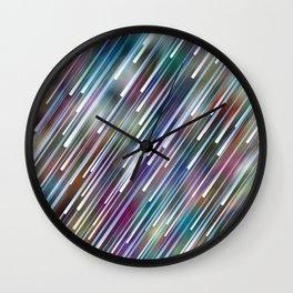 Like Neon Rain Wall Clock