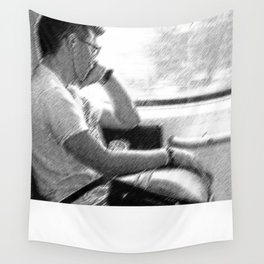 Man by The Window Wall Tapestry
