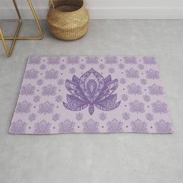 Gentle Pastel Purple  Lotus Flower Rug