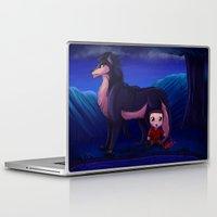 derek hale Laptop & iPad Skins featuring Stiles & Derek Forest by LK17