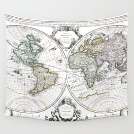 World map wall art 1632 dorm decor mappemonde Wall Tapestry