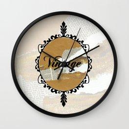 Vintage Collage Frame Wall Clock