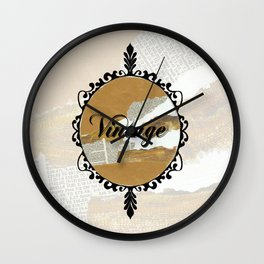 Vintage Collage Frame Wall Clock
