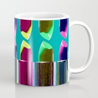 lipstick Mugs featuring Lipstick  by aldarwish