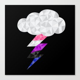 Genderfluid Storm Cloud  Canvas Print