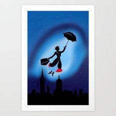 Magical night : Mary Poppins Art Print