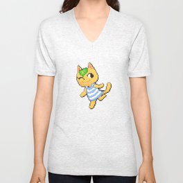 Tangy the Cat Unisex V-Neck