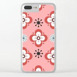 winterflower Clear iPhone Case
