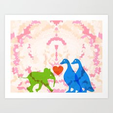 Family (Blue and Blue) Art Print