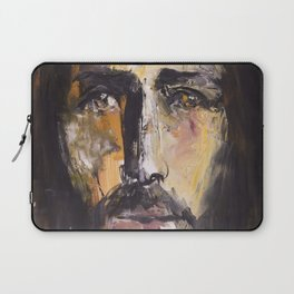 Christ with yellow eyes Laptop Sleeve