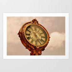 5th Avenue Clock Art Print