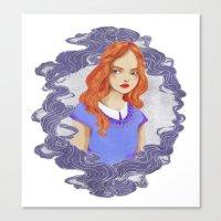 lydia martin Canvas Prints featuring Lydia Martin by strangehats