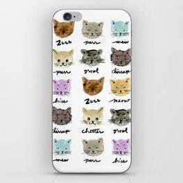 Kitty Language iPhone Skin