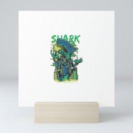 Shark Attack Mini Art Print