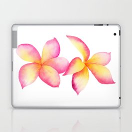 Tropical Frangipani Flowers Laptop & iPad Skin