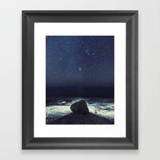 Boulder in the Stars Framed Art Print
