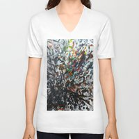 splatter V-neck T-shirts featuring Splatter by Magma