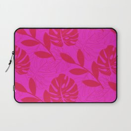 Monstera Leave Red In Red Pattern Laptop Sleeve