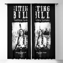 Sitting Bull-Lakota Chief-Sioux-Native American-Indian-History Blackout Curtain