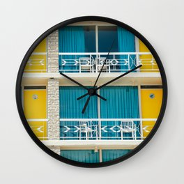 Retro Hotel Print Wall Clock