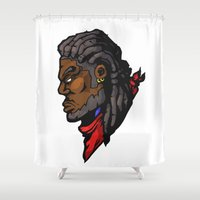 xmen Shower Curtains featuring x7 by jason st paul