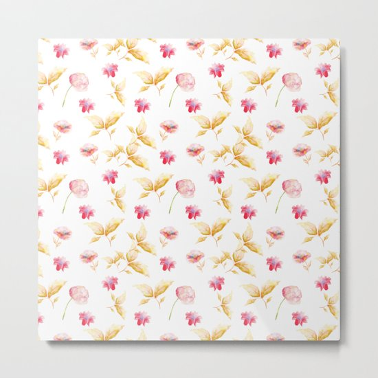 Delicate Floral Pattern 10 Metal Print