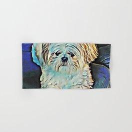 Shih tzu dog art Hand & Bath Towel