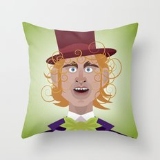 Willy Wonka from Charlie and the chocolate factory, played by the great Gene Wilder Throw Pillow