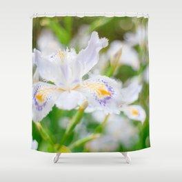 Fringed iris Shower Curtain
