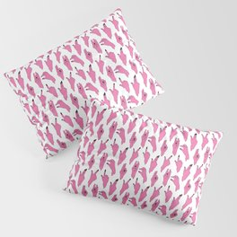 piggy pink swipers on www.white Pillow Sham