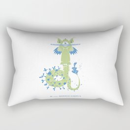 H is for Hippocampus Rectangular Pillow