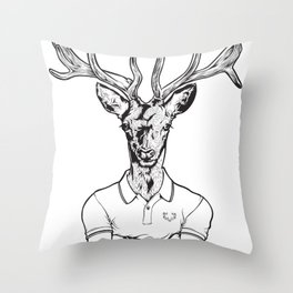 bambi's a grown up now  Black Throw Pillow