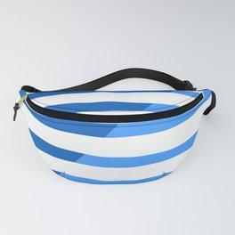 Beach Stripes Blue Fanny Pack