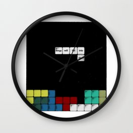 Falling Into Place Wall Clock