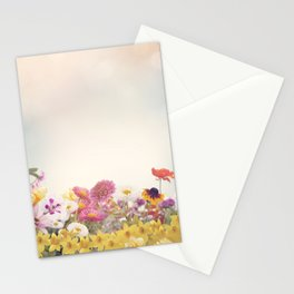 Colorful Flowers in the Garden Stationery Cards