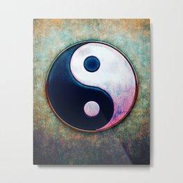 Yin Yang - Scratchy Painting Design Metal Print