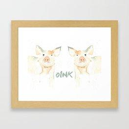 Piggie Oink Framed Art Print