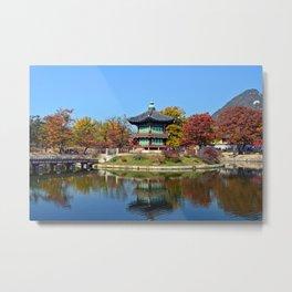 Autumn Hyangwon-jeong, Gyeongbokgung Metal Print