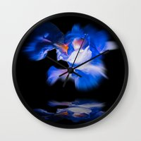 lily Wall Clocks featuring Lily  by Walter Zettl
