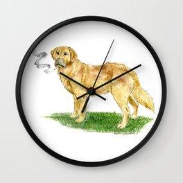 Smoking Dog Wall Clock