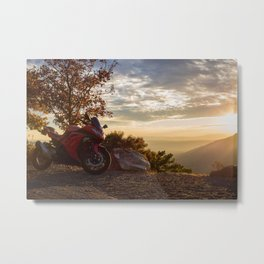 Setting the Ride to Happiness Metal Print
