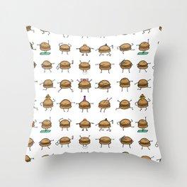 Hooray! Cheeseburgers! Throw Pillow