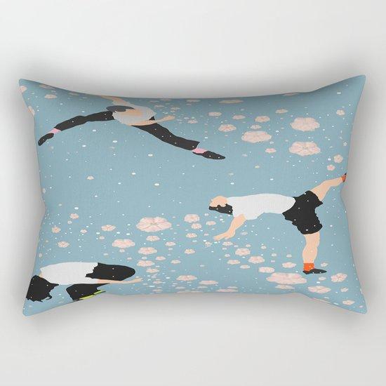 how snow falls Rectangular Pillow