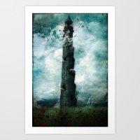 dark tower Art Prints featuring The Dark Tower by Sybille Sterk
