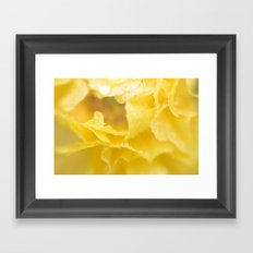 April showers in yellow Framed Art Print